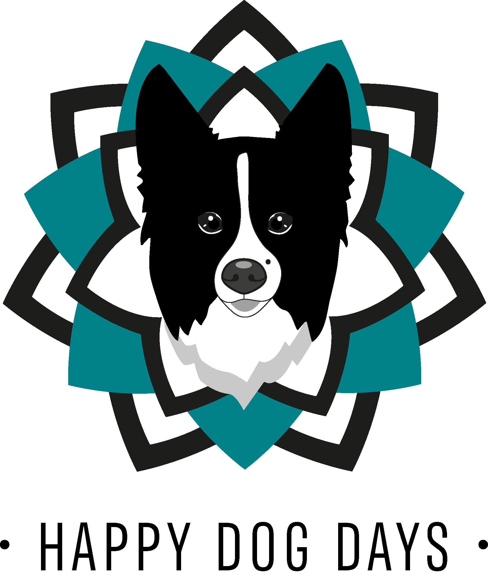 Mobile Hundeschule - Logo in Mandalaform mit Hund